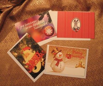 Sfeervolle Kerstansichtkaarten met enveloppe