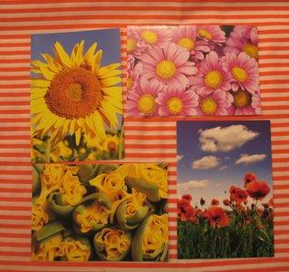 Vrolijke bloemenkaarten