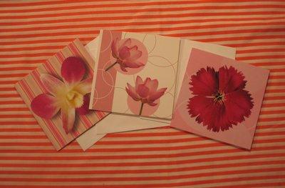 Bloemenkaarten vierkant